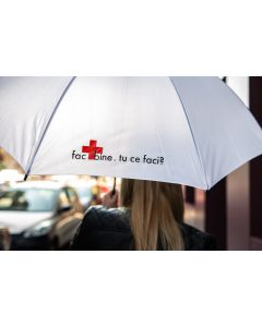 """Umbrelă """"Fac bine.Tu ce faci?"""""""